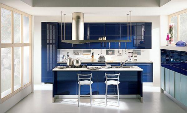20 Gorgeous Blue Themed Kitchen Design Ideas White Blue Luxury