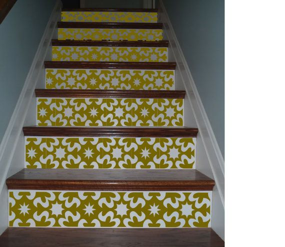 Vinyl Stair Riser Decals Carnivale Style Staircase