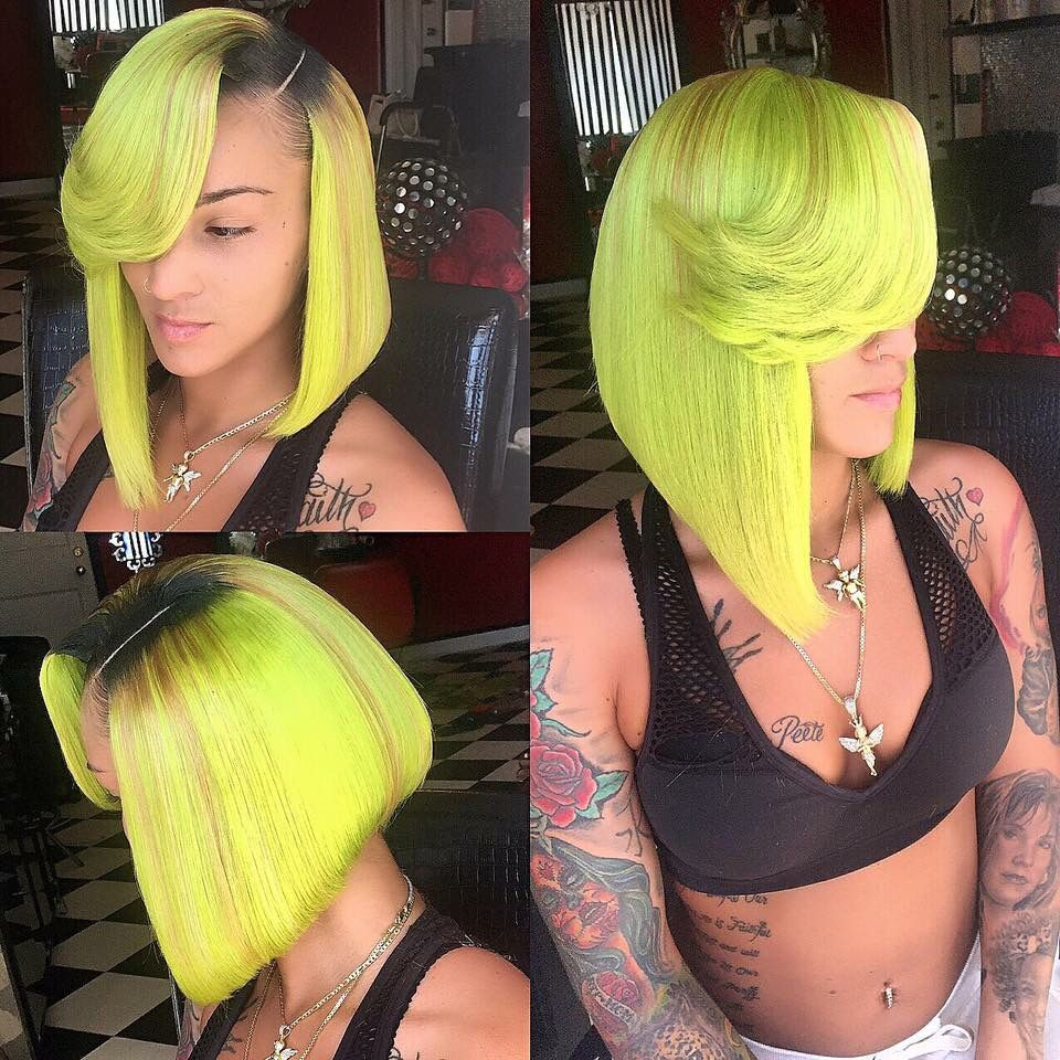 Lime green sew in weave hair hair pinterest weave hairstyles lime green sew in weave hair pmusecretfo Gallery