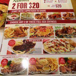 Applebees Restaurant Menu Specials