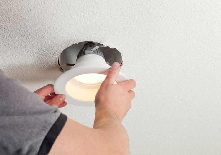 how to fix recessed lights spring