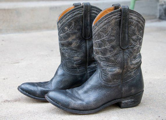3622601512c Old Gringo Black Distressed Cowgirl boots Womens size 10 M 11