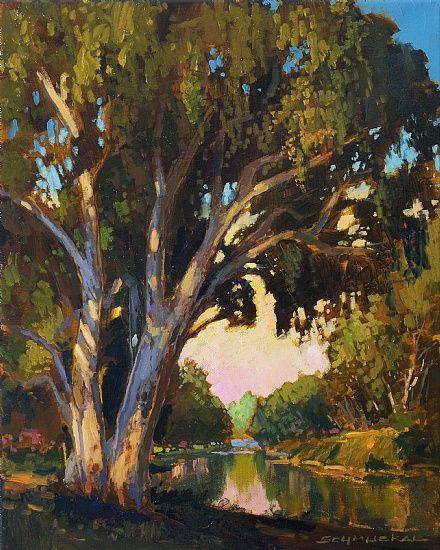 Jan Schmuckal Work Zoom 100 1816 Landscape Paintings Tree Painting Oil Painting Landscape