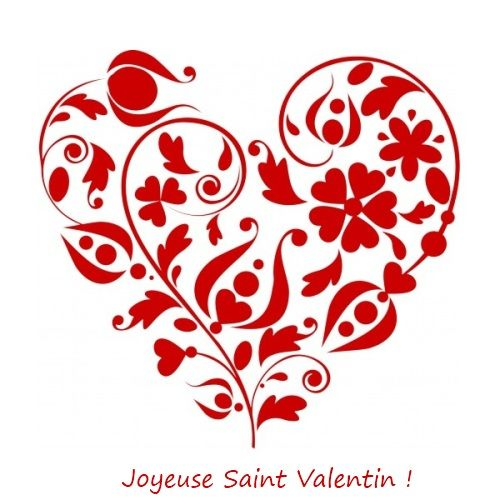 Joyeuse Fête De La Saint Valentin Dessin Coeur Idée