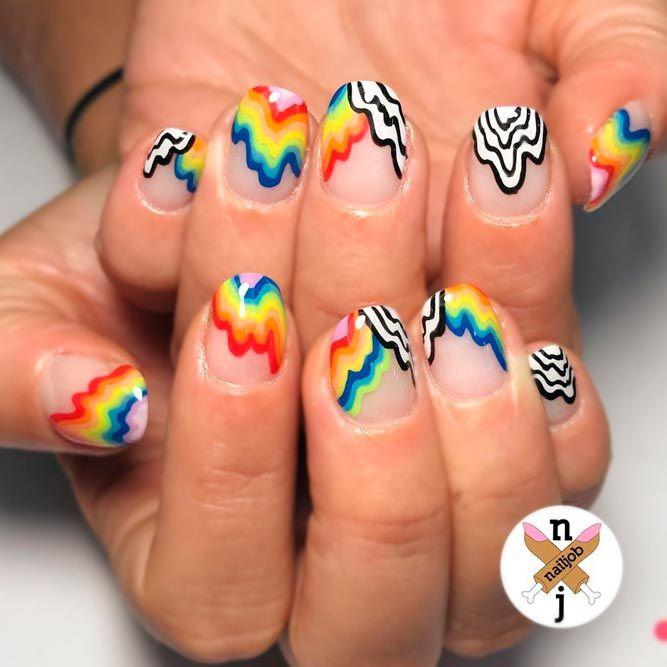 24 Negative Space Nails Designs Simple Perfection Pinterest