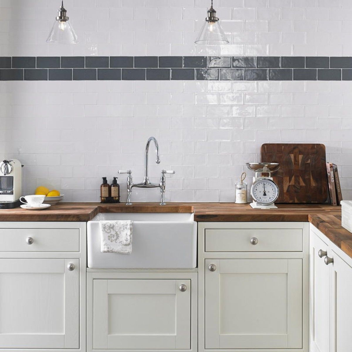 White Kitchen Wall Tiles 15x7.5 rustico blanco brillo | wall tiles | pinterest | wall tiles