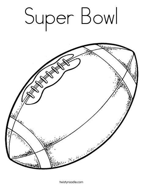 Super Bowl Coloring Page Football Coloring Pages Football Clip Art Sports Coloring Pages