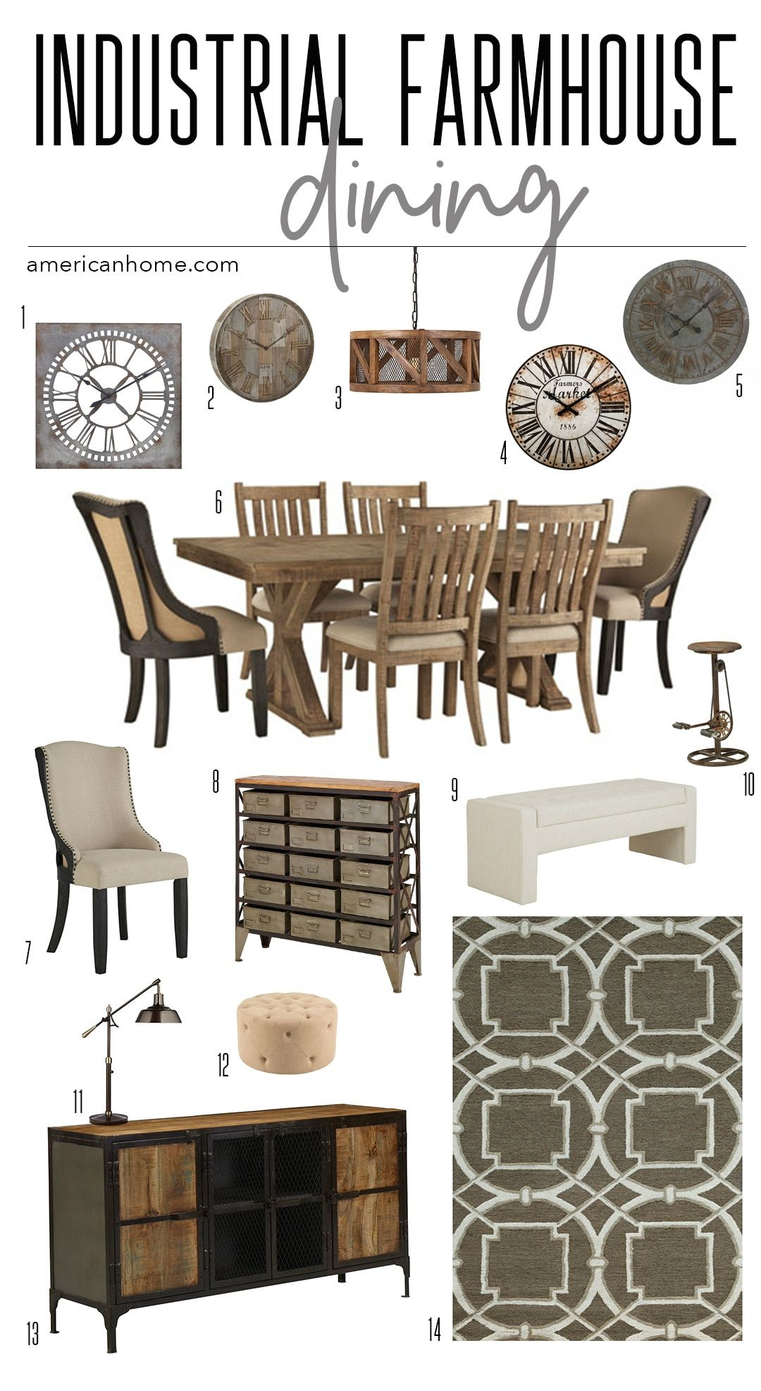 Storyboard industrial farmhouse dining in dining pinterest