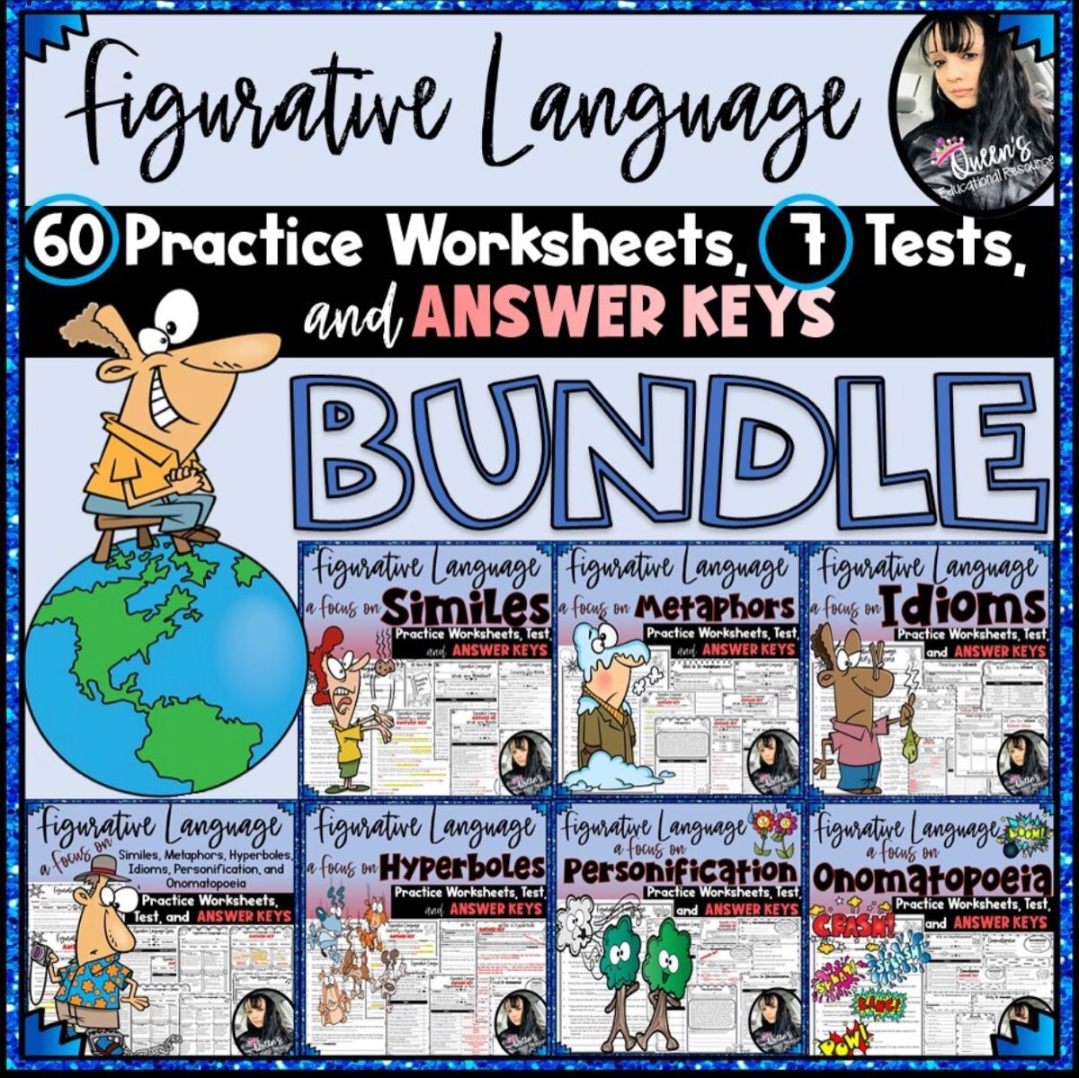 Figurative Language Practice Worksheets, Tests, and Answer ...