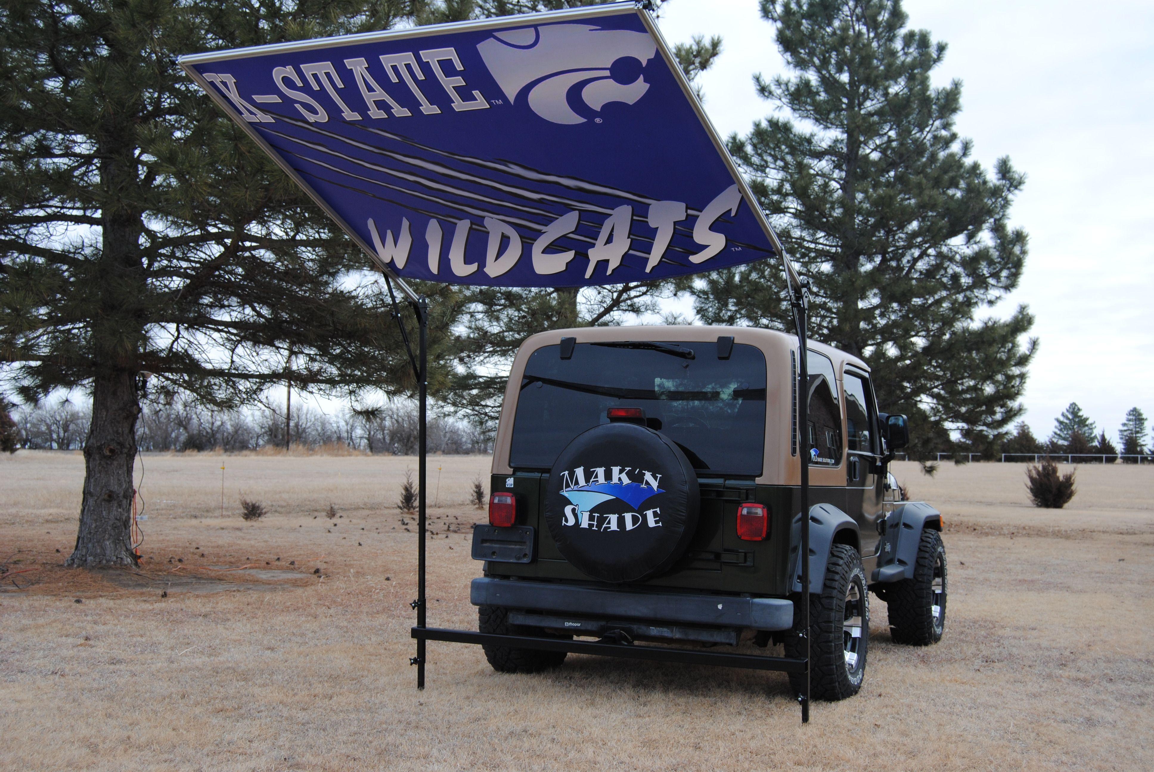 Kansas State University tail-gate shade. #KState   dldshadesolutions.com