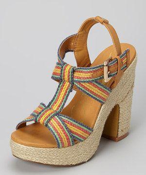 Love this Rebels Footwear Blue Izzy Platform Espadrille by Rebels Footwear on #zulily! #zulilyfinds
