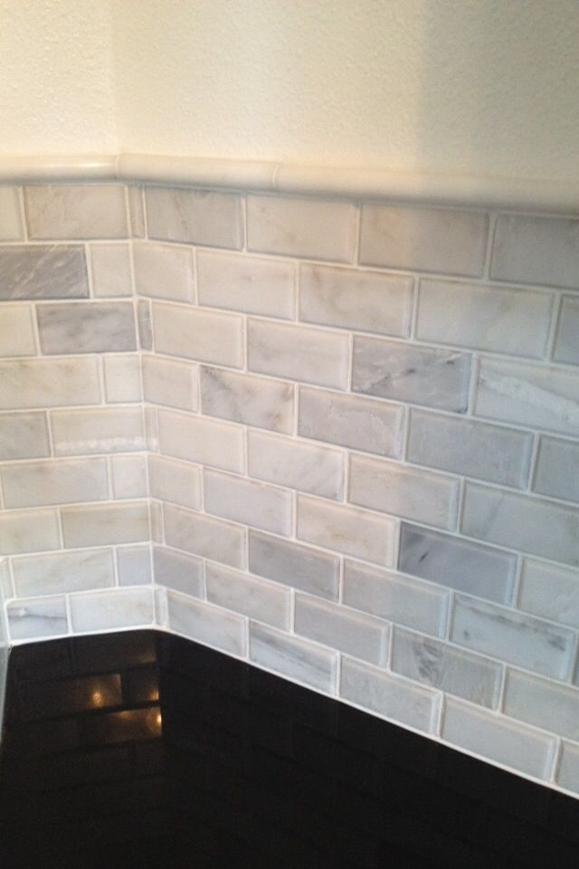 Grey Kitchen With White Tiles