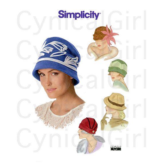 1920s Hats Pattern Uncut Simplicity 1736 Vintage Inspired Art Deco ...