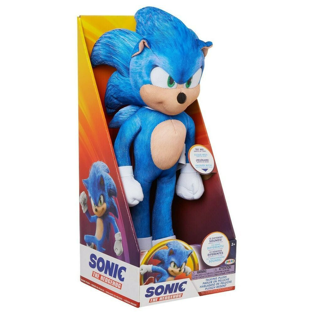 Sonic The Hedgehog Movie Talking Plush Soft Toy Collectible Kids