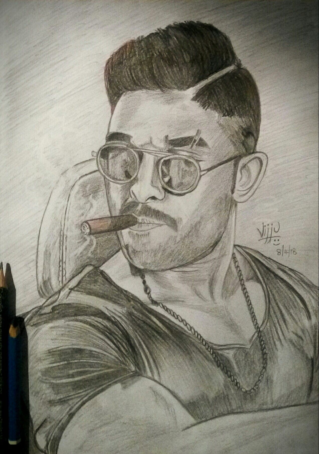 Allu Arjun Sketch Draw On Photos Pencil Sketch Portrait Beautiful Pencil Sketches