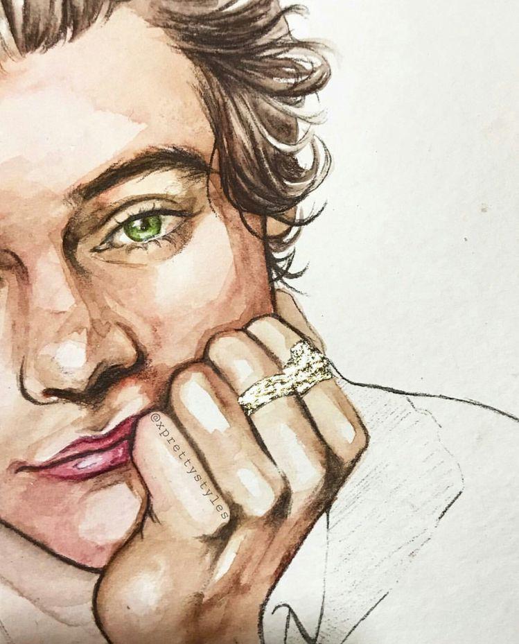 Pin De Juliana Orellana En H A R R Y S T Y L Es Dibujos De Famosos Dibujos De One Direction Arte De Sueños