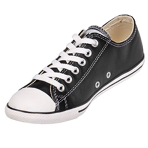 59350f9a41dc  99.99 Converse Chuck Taylor 113937 Leather Black Slim low top ...