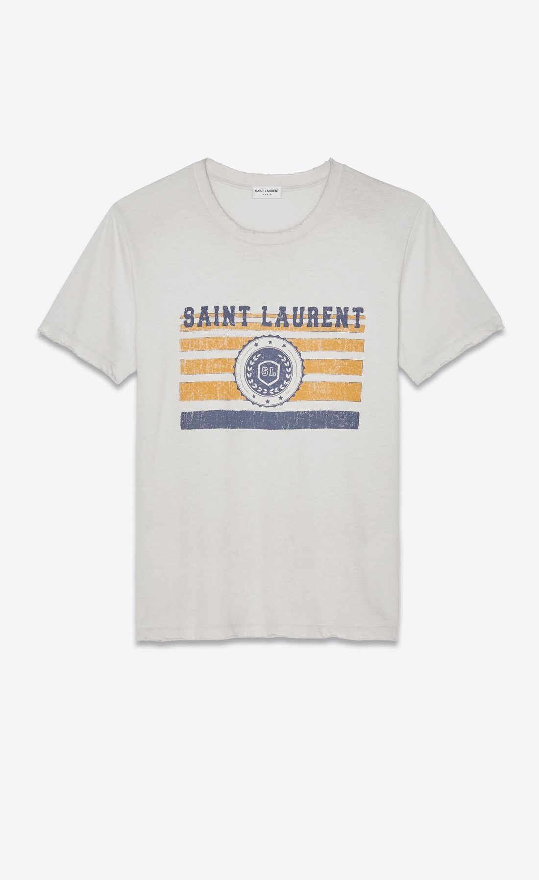 49ebe01046d5 SAINT LAURENT T-Shirt and Jersey Woman Boyfriend Saint Laurent University T- shirt in off-white jersey V4