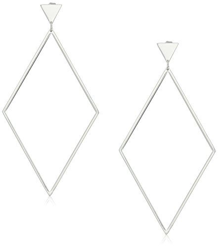 gorjana Liv Collection Liv Drop Silver Hoop Earrings ** Want to know more, click on the image.
