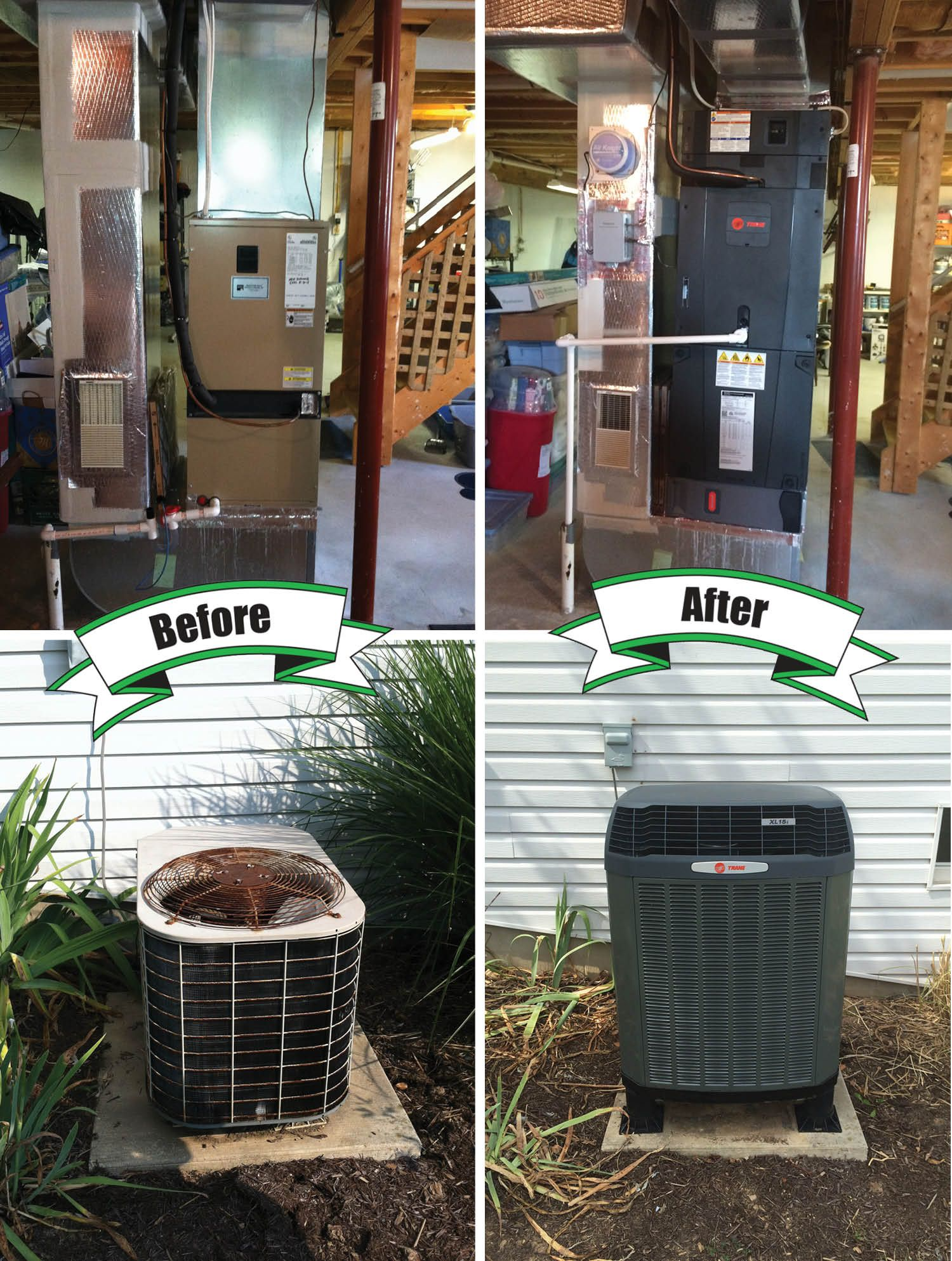 Holtzopleheatingandairconditioning Trane Beforeandafter We Can Transform Your Old Hvac System Into A High Hvac Air Conditioning Hvac Maintenance Trane Hvac