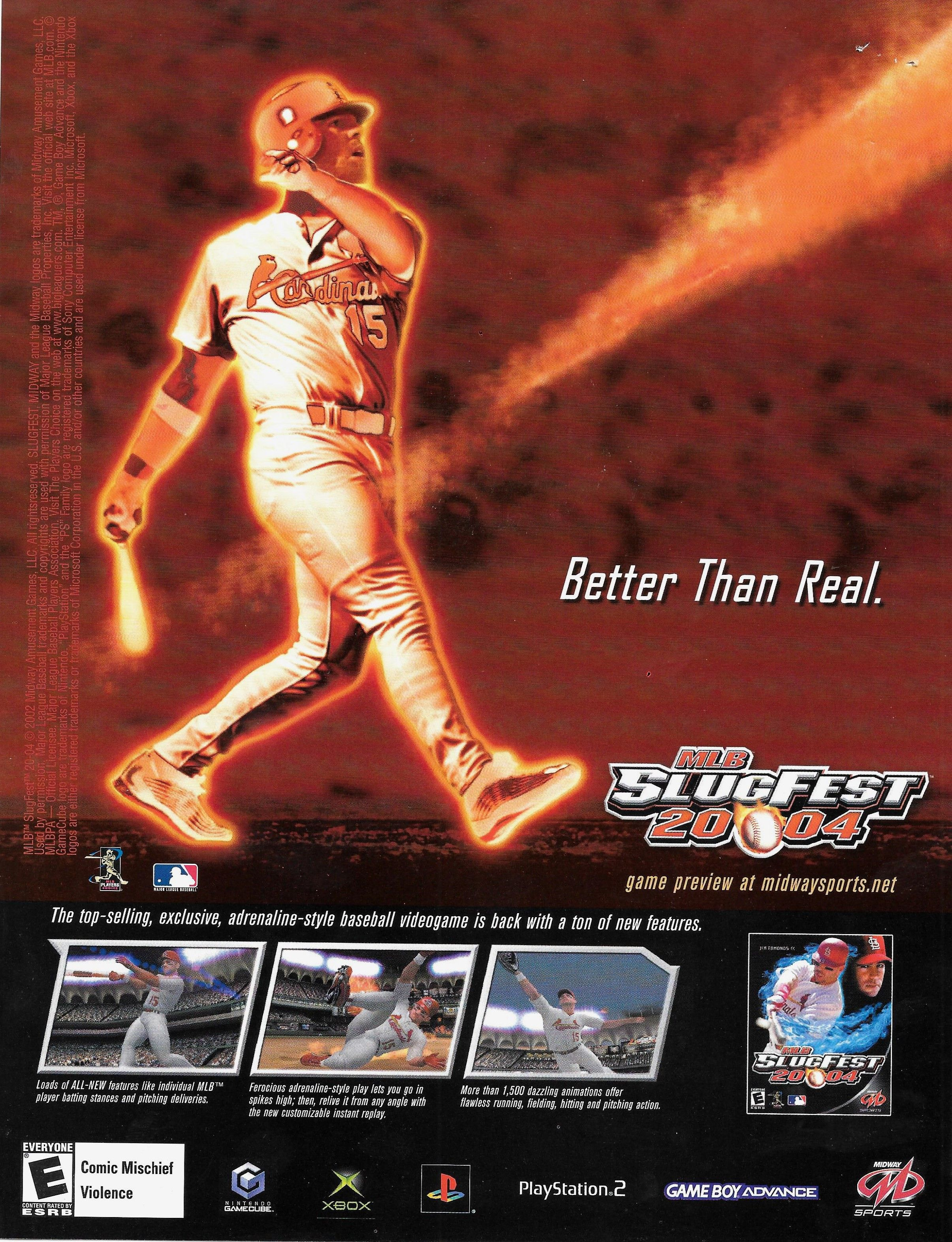 Mlb Slugfest 2004 With Images Xbox Video Games Nintendo
