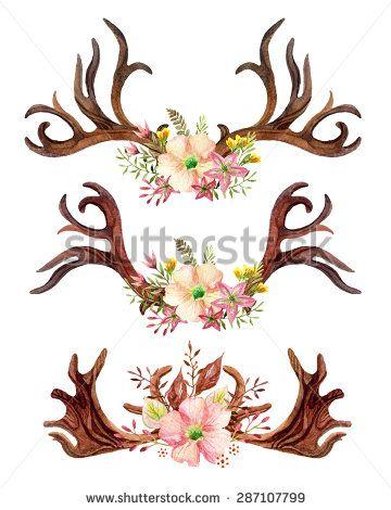 Moose Antler Tattoo : moose, antler, tattoo, Image, Result, Moose, Antler, Flowers, Tattoos,, Clover, Tattoos