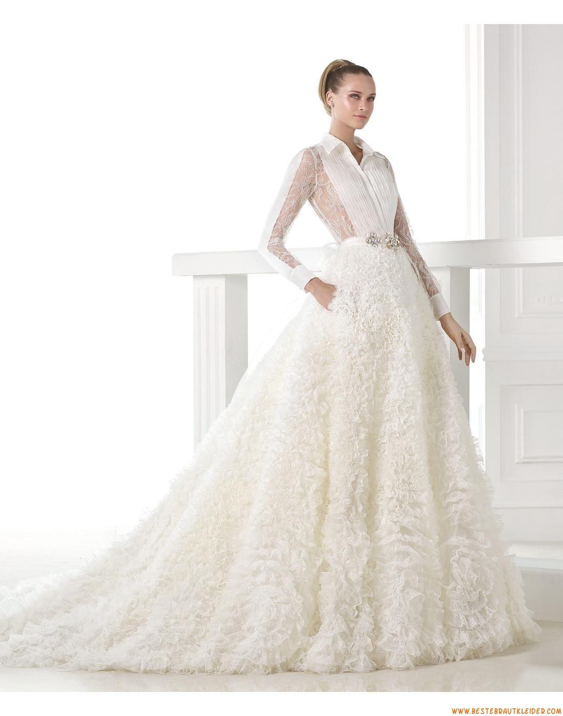 2015 Ausgefallene Luxuriöse Aparte Brautkleider aus Organza mit ...