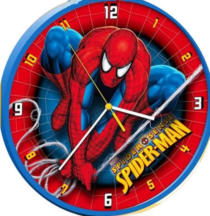 spiderman round wall clock spiderman bedroom spiderman on wall clocks id=27784