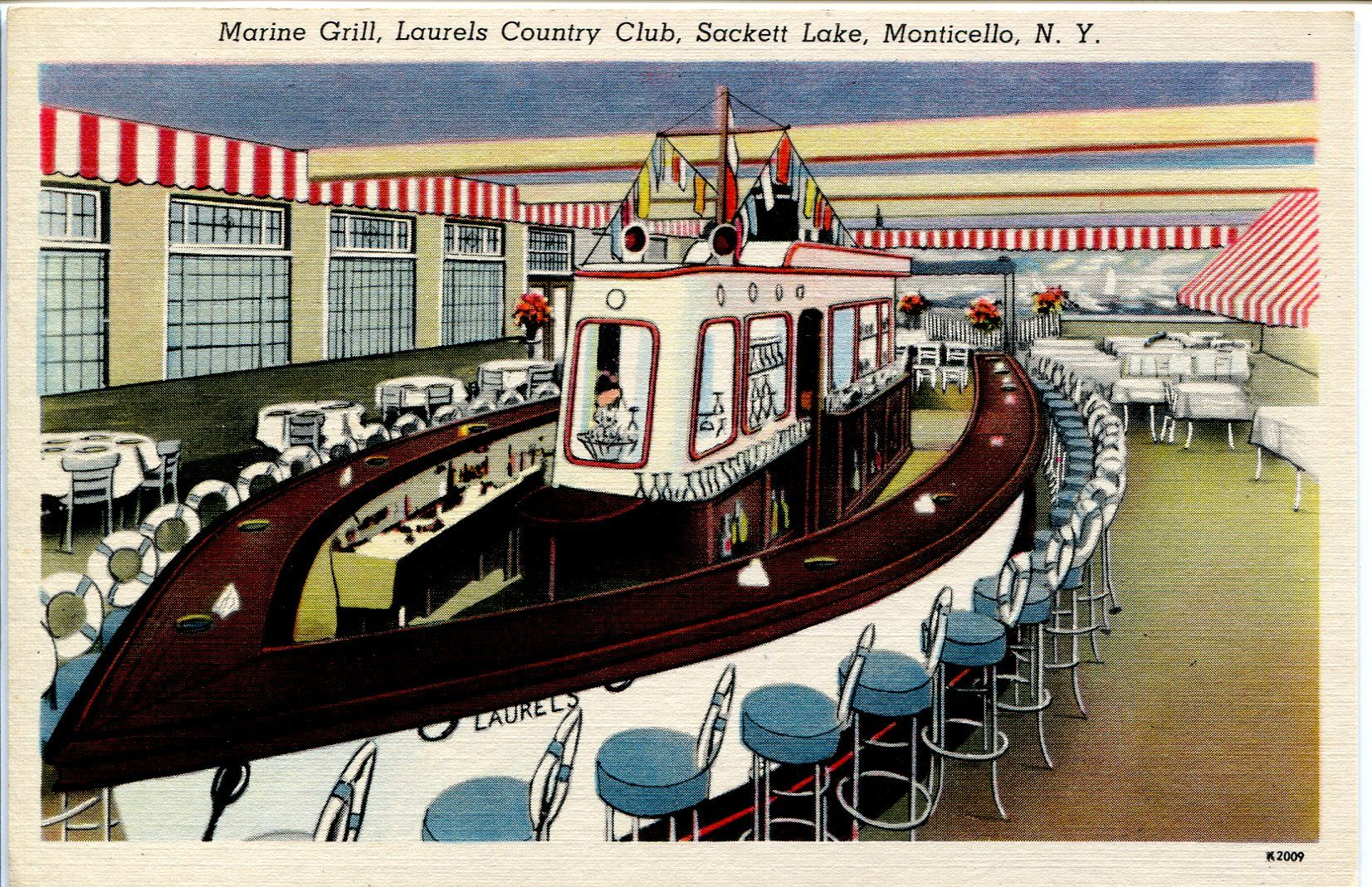 Laurels Country Club Sackett Lake Monticello New York The Marine Grill