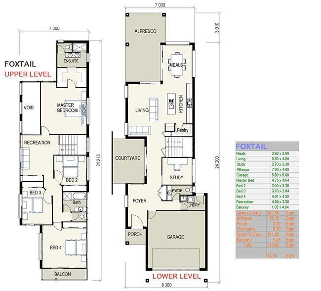 Nice Custom Design House Plans #3: Custom Home Designs House Best Narrow Lot House Plans