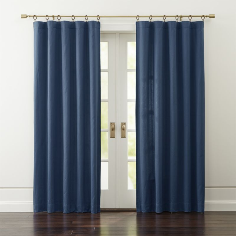 Made From 100 Cotton Sateen These Classic Midnight Blue Curtain Panels Accent Blue Velvet Curtains Velvet Curtains Curtains Living Room