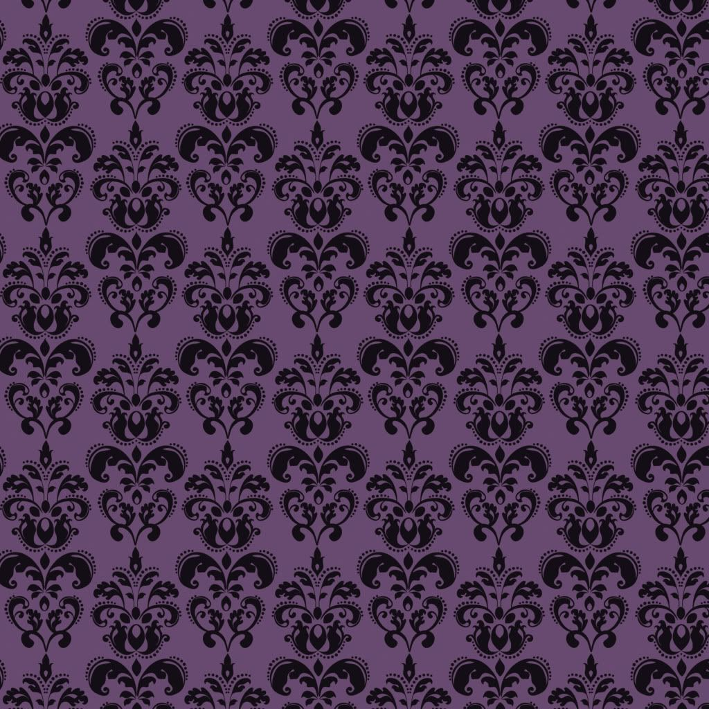 Purple Damask (With images) Purple wallpaper bedroom