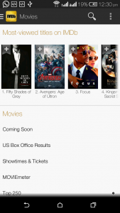 IMDb has provided us an android app.As of now it has 50,000,000 plus downloads.