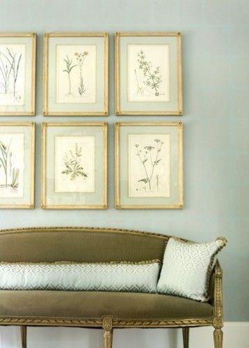 Botanical Wall Art Love The Gold Frames Too Decor Living Room Inspiration Framed Botanical Prints