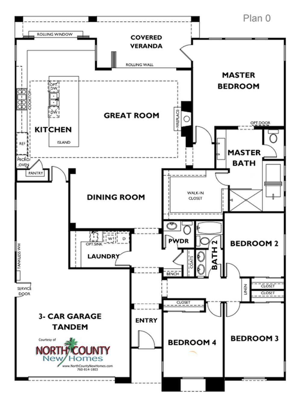 Floor Plans Lanai Ii New Homes In Carlsbad North County New Homes Floor Plans Ranch Home Floor Plans Floor Plans Ranch