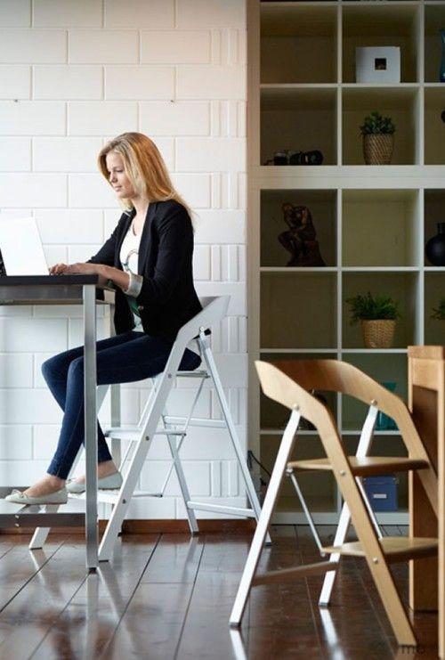 Stepladder Chair Space Saving Furniture Furniture Home