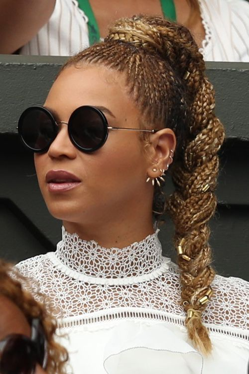 Beyonce Ses Looks Coiffure In 2019 Braided Hairstyles