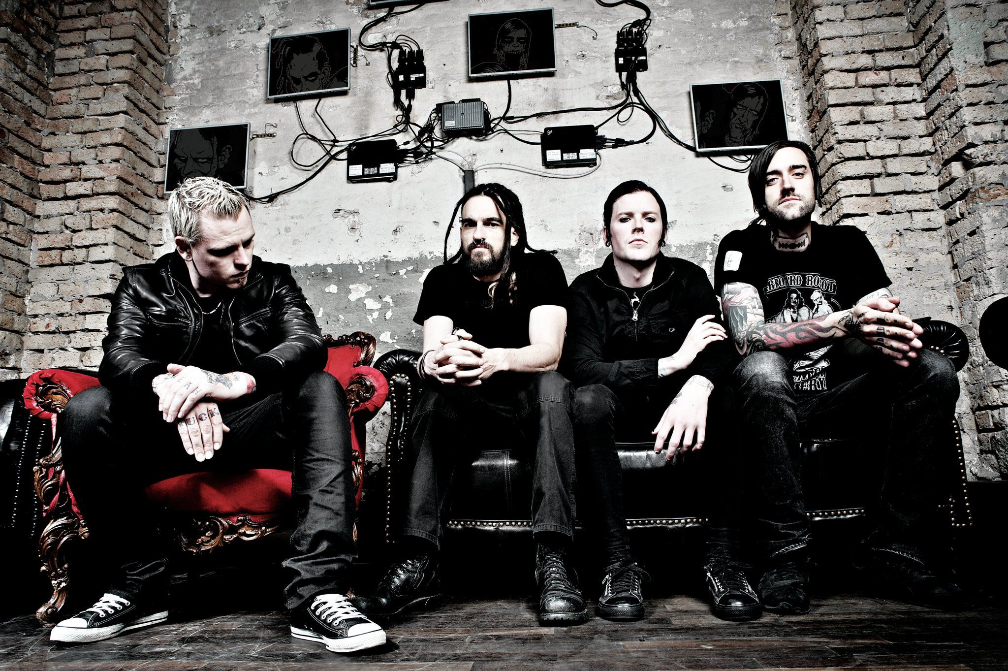 Combichrist (Andy LaPlegua) with LIVE band members z_marr (Gregory