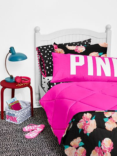 Reversible Quilted Comforter Pink Victoria S Secret With