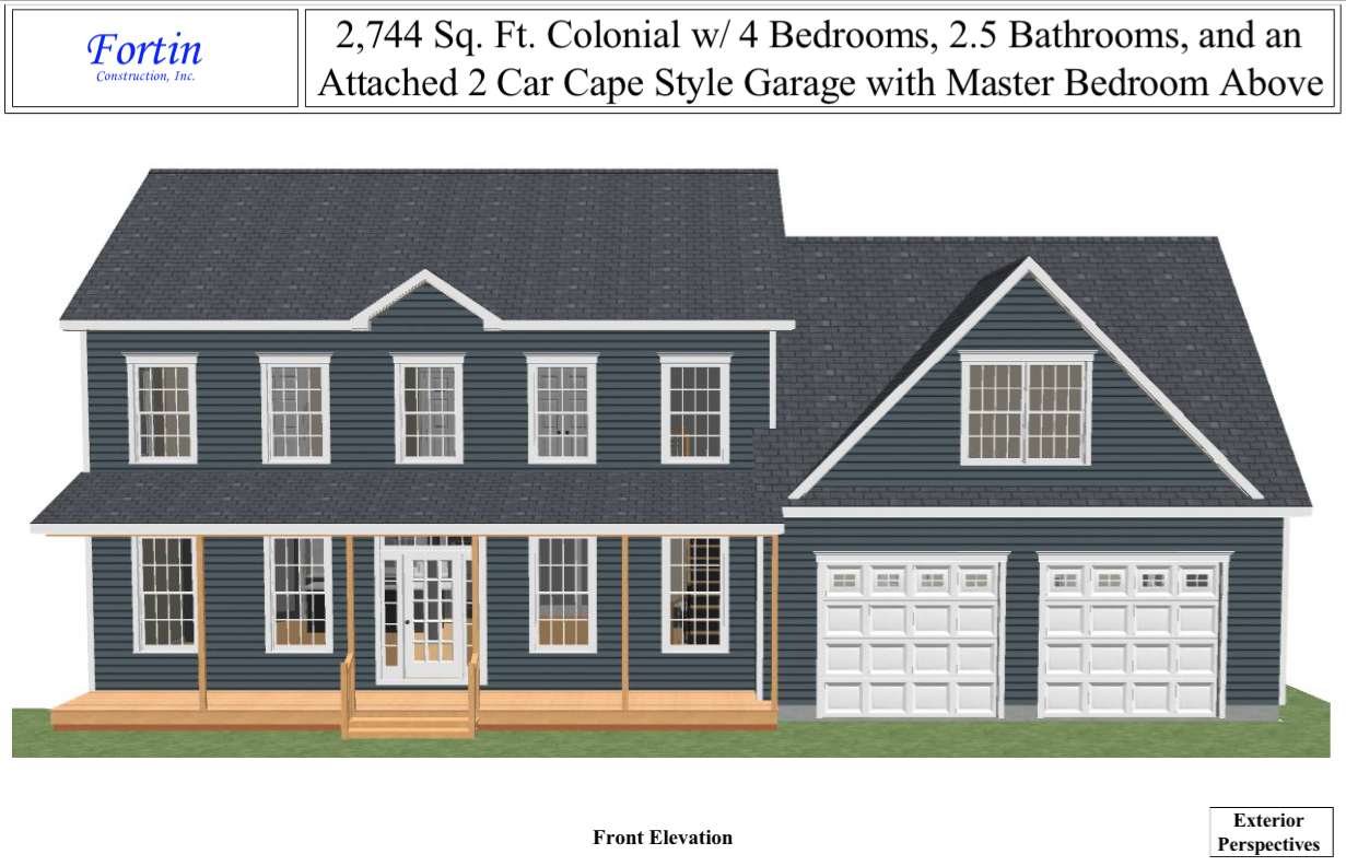House plans with attached 2 car garage