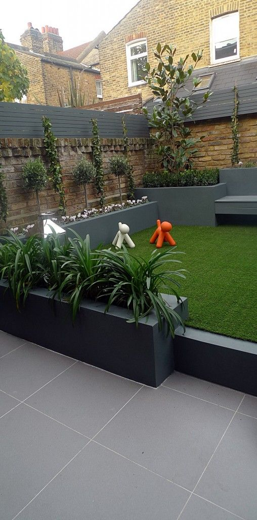 Contemporary modern garden design Balham London Hardwood ...