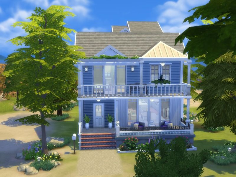 Beach House Featuring A Rooftop Terrace With A Stunning View Of The Ocean Built On A 30x20 Lot In Windenburg Found I Perfect Patio Sims House Rooftop Terrace