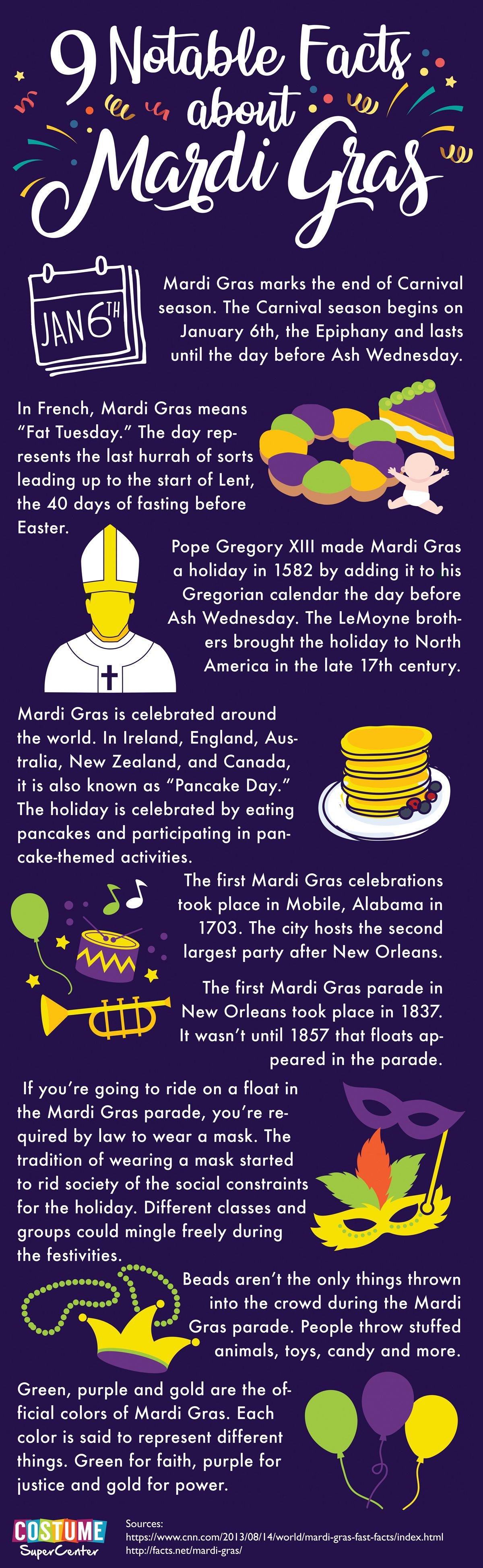 9 Facts About Mardi Gras