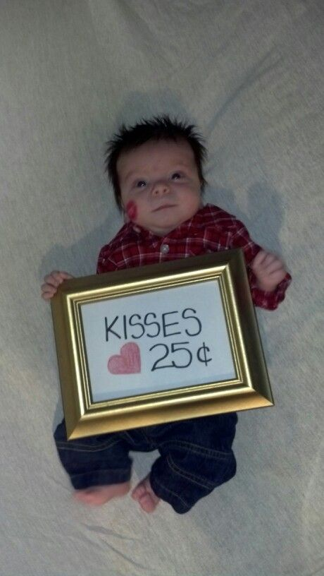 Bransyn's Valentines Day Pictures; Two Months Old