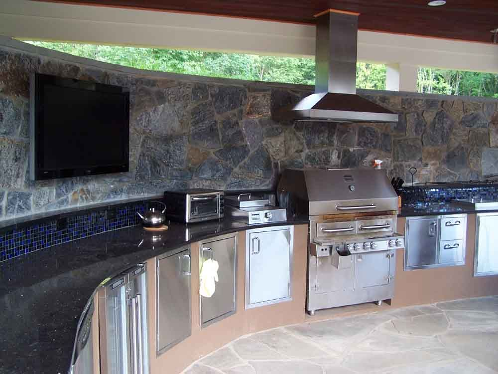 Nice Breathtaking Outside Kitchen Designs Countertop With Portable Electric  Kitchen Oven For Baking And Stainless Kitchen Storage Doors Also Brushed  Steel ...