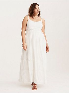 a28f2ff3f4a Lace Inset Tiered Maxi Dress
