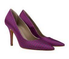 Tribeca Purple with Red spots Italian stiletto heels