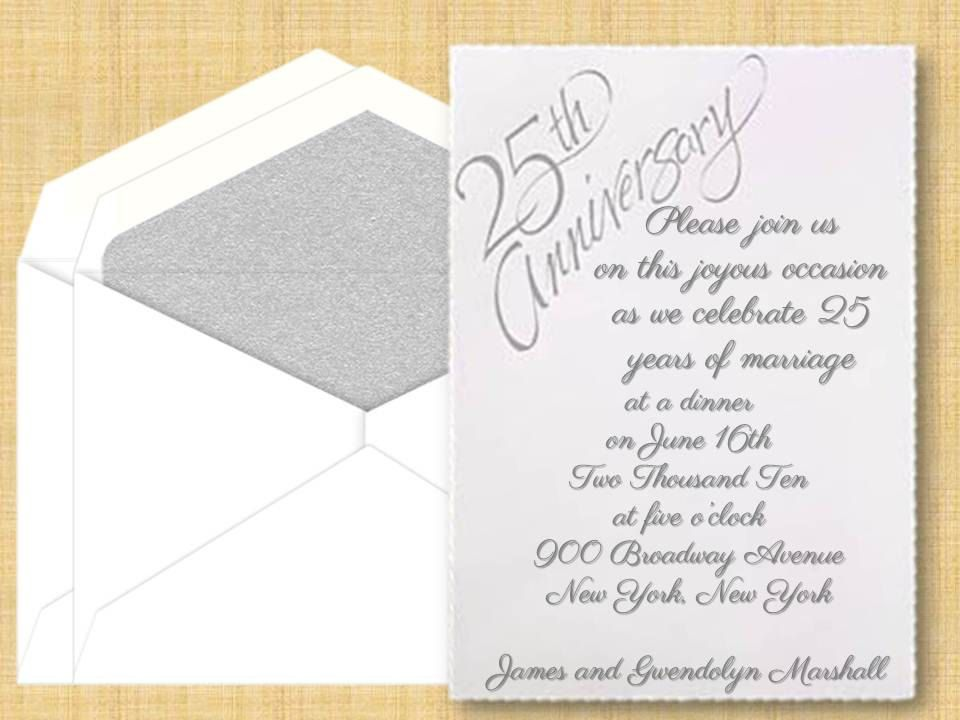 Th Anniversary Party Invitations Anniversary Invitations
