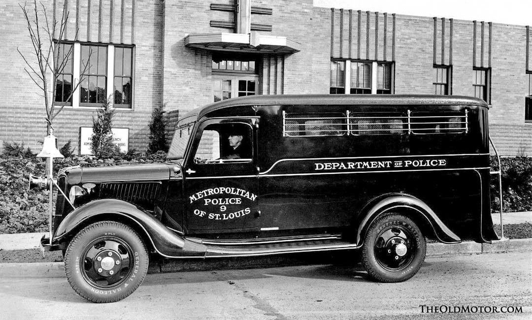 Mid 1930s Ford Paddy Wagon Police Truck Emergency Vehicles Car Cop