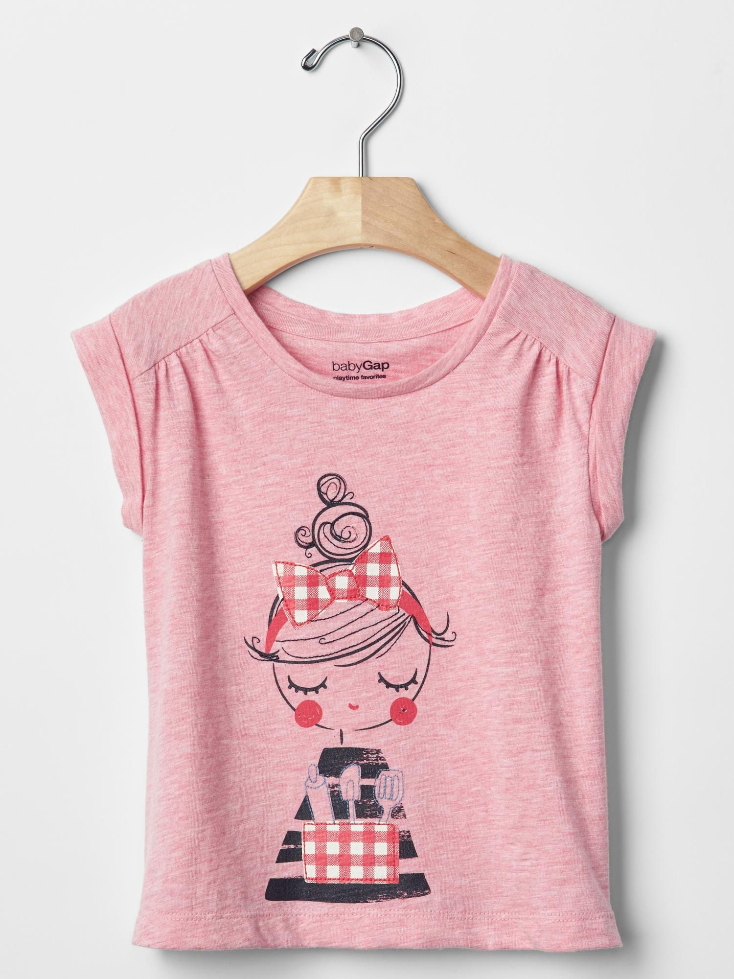 ca61a2956 Embellished graphic shirred tee